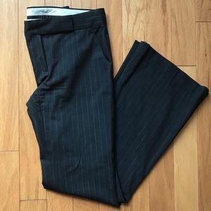 Theory Charcoal Gray Pinstripe Dress Work Pants